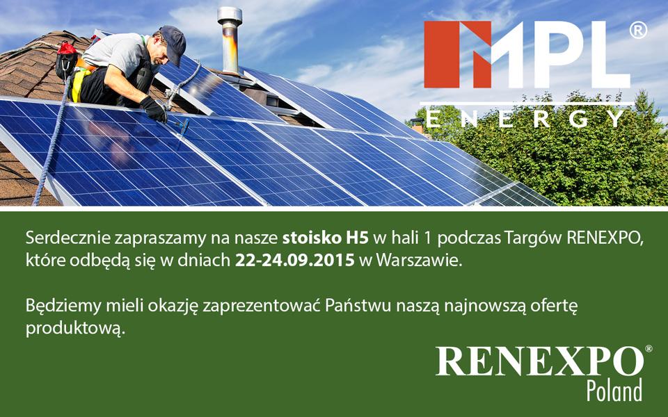 Zapraszamy na targi Renexpo 22-24.09.2015