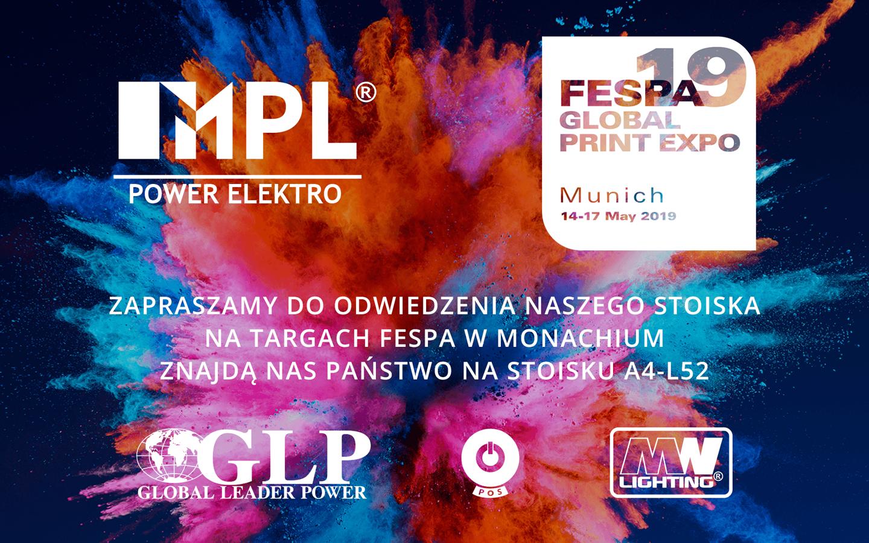 Zapraszamy do odwiedzenia nas na Targach FESPA 2019
