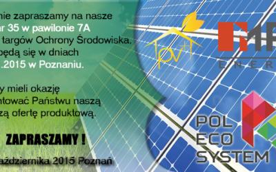 Zapraszamy natargi POL-ECO-SYSTEM 27-30.10.2015