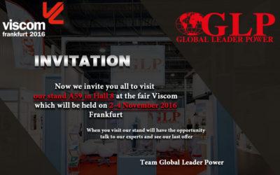 Viscom invitation 2-4.11.2016 Frankfurt