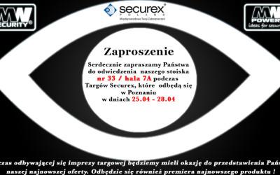 Zapraszamy naTargi Securex 25.04 – 28.04.2016