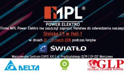 Zaproszenie naTargi Światło 22-24.03.2017 Warszawa