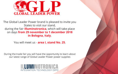 Visit our stand during the Illuminotronica trade show on 29.11-01.12.2018